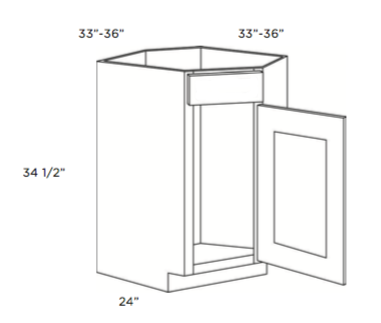 """Cubitac Corner Sink Base Cabinet 33"""" or 36"""""""