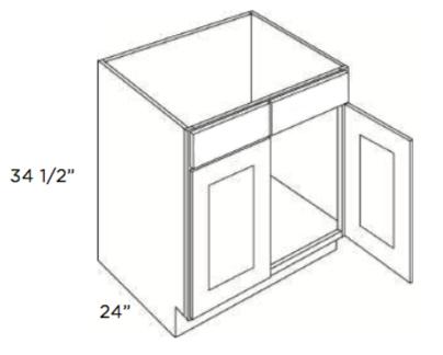 Cubitac Sink Base Cabinet SB24 or SB27 or SB30 or SB33 or SB36