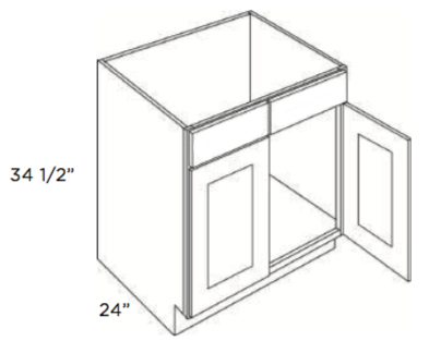 Cabinets, Cubitac Ridgewood Cubiccino Cubitac Sink Base Cabinet SB24 or SB27 or SB30 or SB33 or SB36
