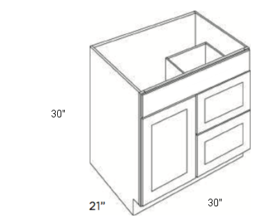 Cabinets, Cubitac Ridgewood Rose, Cubitac Ridgewood Rose Cubitac Vanity Combo V3021D-30