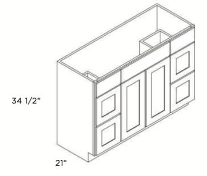 Cubitac Vanity Combo V4221DD and V4821DD