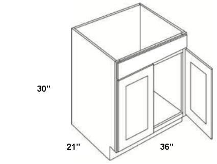 """Cubitac Vanity Sink Base Cabinet V3621 30"""" Deep"""