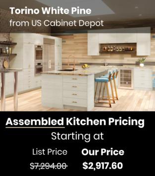 US Cabinet Depot Torino White Pine