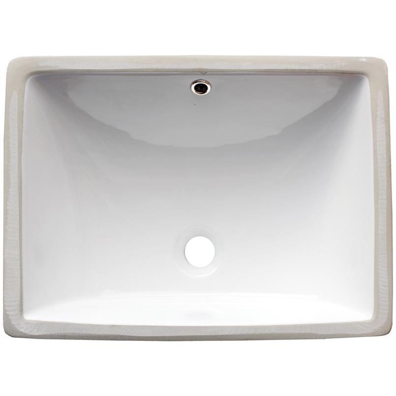 Sinks -porcelain-vanity-rectangle-white-1813-SIN-POR-UNDRECWHT-1813