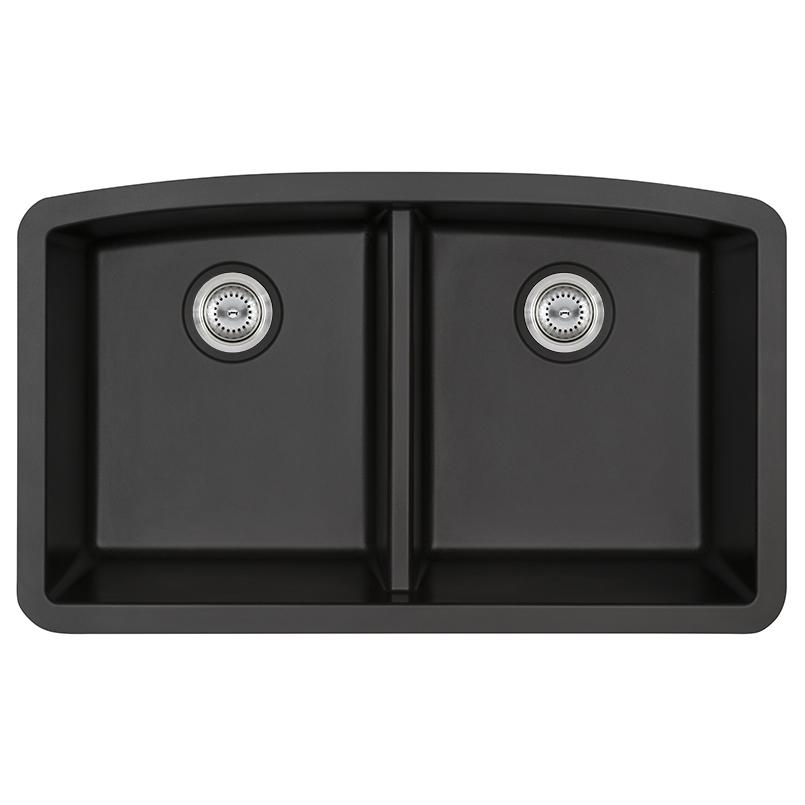 Sinks -quartz-black-double-bowl-50-50-3219-SIN-QTZ-DBLBWL-5050-3219-BLK