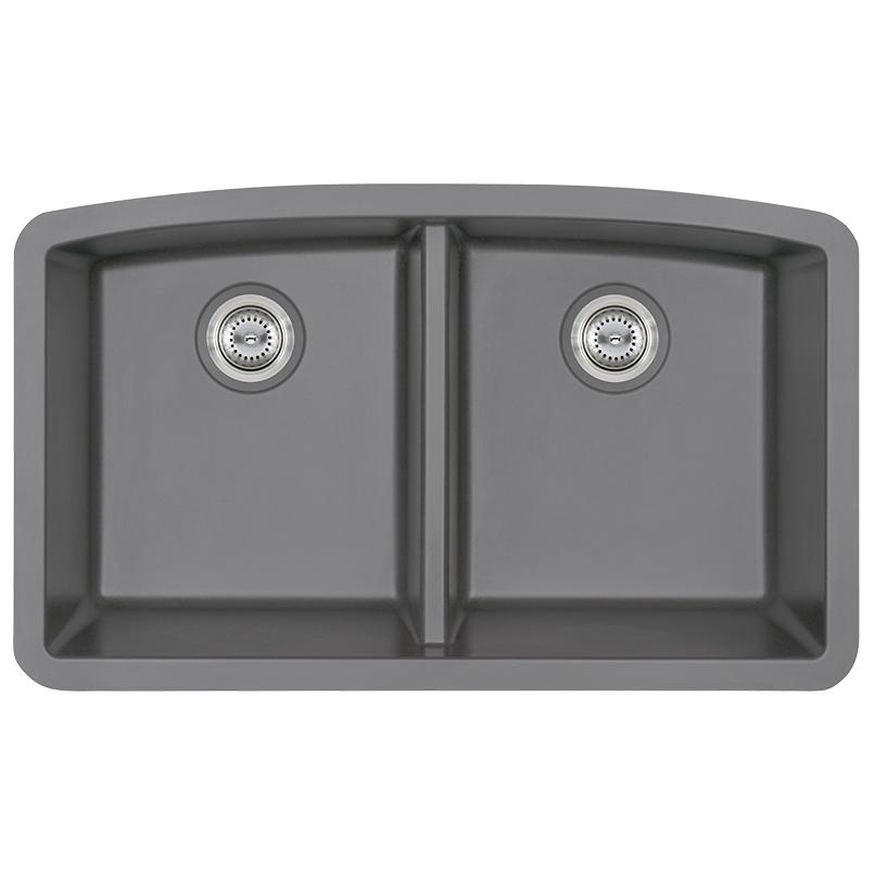 Sinks -quartz-grey-double-bowl-50-50-3219-SIN-QTZ-DBLBWL-5050-3219-GRY