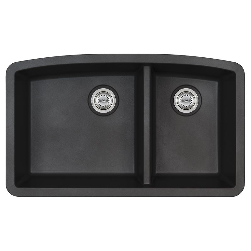 Sinks -quartz-black-double-bowl-60-40-3219-SIN-QTZ-DBLBWL-6040-3219-BLK